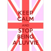 Keep Calm Luvvie Poster