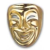 Happy gold Opera Mask