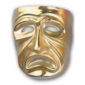 Sad gold Opera Mask