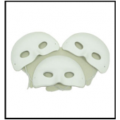 PACK TEN WHITE FLOCKED EYE MASKS
