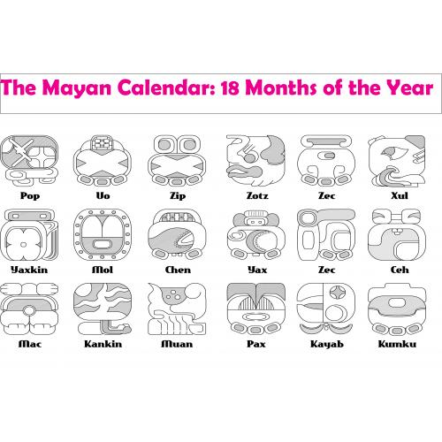 Mayan Calendar A2 Poster - KS2 Mayans - History