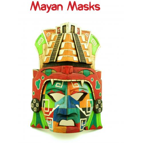 Mayan Mask A2 Poster - KS2 Mayans - History